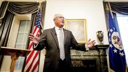 "U.S. Ambassador to the Netherlands Pete Hoekstra spoke at a tense news conference with Dutch reporters Wednesday at The Hague. On Friday, he said earlier anti-Muslim comments were ""wrong."""