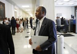 Housing and Urban Development Secretary Ben Carson arrives to testify at a hearing of the House Financial Services Committee on Capitol Hill on June 27, 2018.