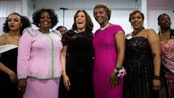 Shortly after launching her own presidential bid in 2019, Kamala Harris joined her sorors at the Alpha Kappa Alpha, Inc., Annual Pink Ice Gala in Columbia, S.C. Members of the sorority across the nation are celebrating one of their own making history as vice president of the United States.